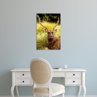 Easy Art Prints Ellen Clark's 'A Sambar Deer' Premium Canvas Art