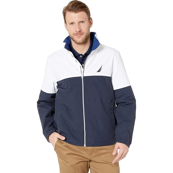 Nautica Mens Light Weight Color Block Jacket, Adult