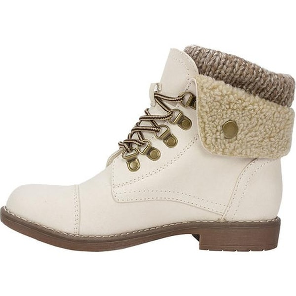 Downey Lace Up Bootie Winter White