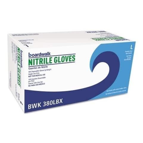 Boardwalk 088-380Lct 4 Mil Large Disposable General-Purpose Nitrile Gloves Blue