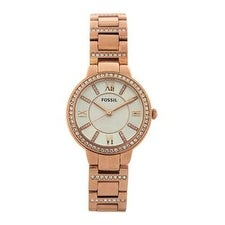 Fossil Es3284p Virginia Rose-Tone Stainless Steel Watch Watch For Women