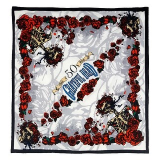 Details about Grateful Dead 50th Anniversary Bandana Scarf Doo Rag Hanky 22 x 22 Inches - 22 x 22 inches