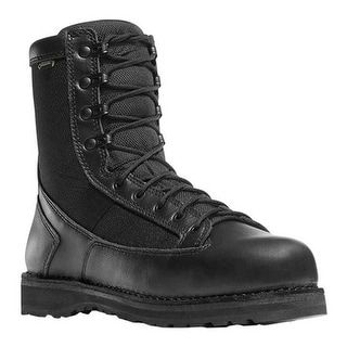 """Danner Men's Stalwart 8"""" Waterproof Work Boot Black Full Grain Leather/1000 Denier Nylon"""
