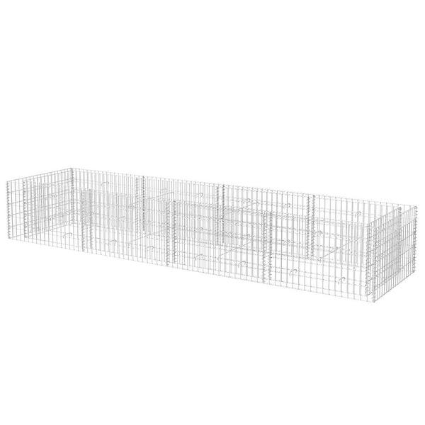 """vidaXL Gabion Planter Steel 141.7""""x35.4""""x19.7"""""""