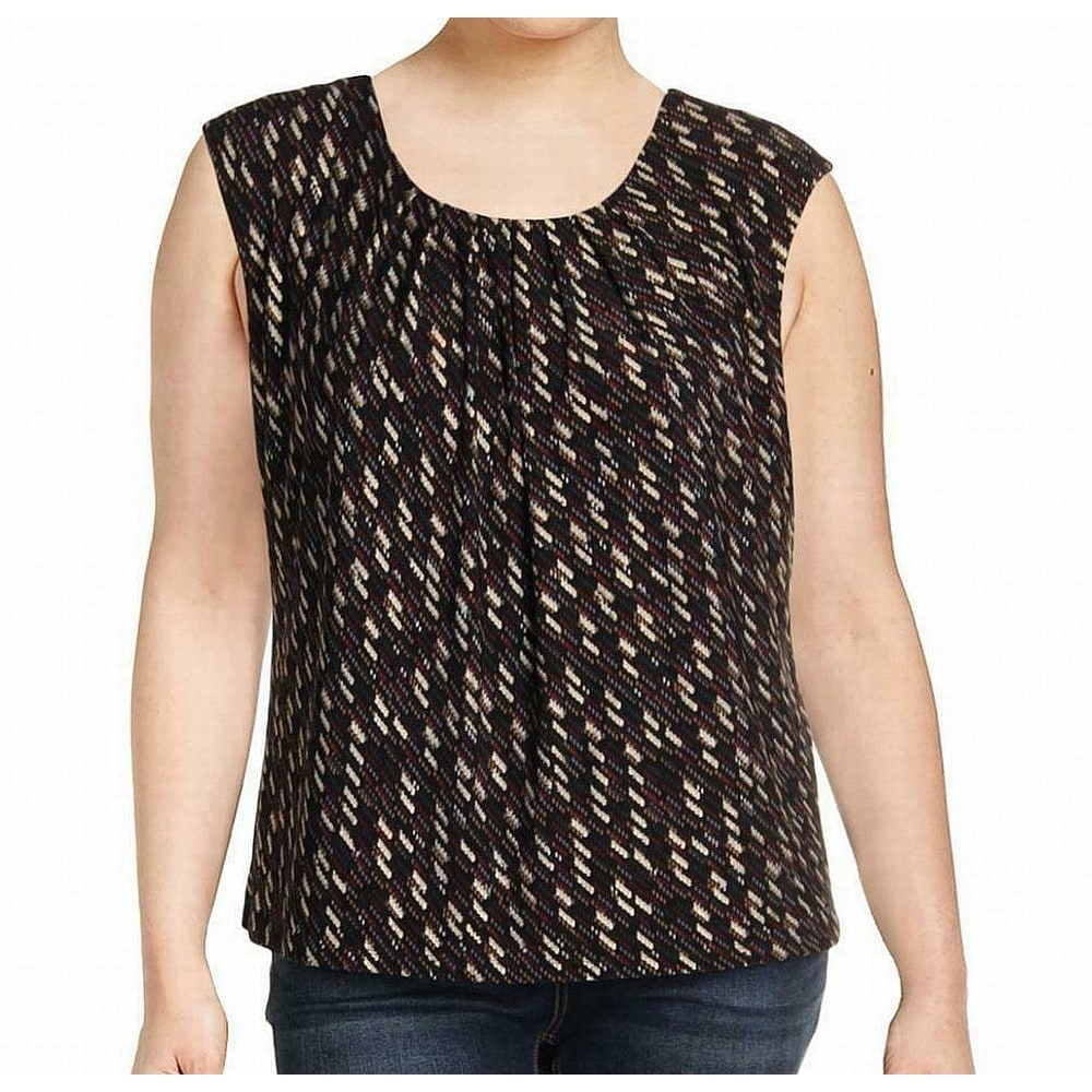 Kasper Womens Metallic Sweater Tank Top