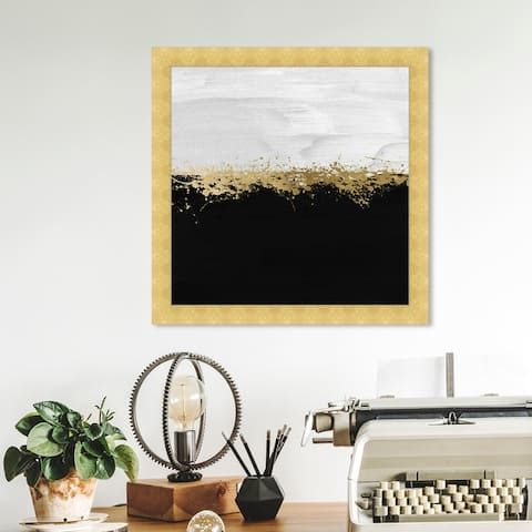 Oliver Gal 'Halfway in Black and White' Abstract Wall Art Framed Print Paint - Black, White