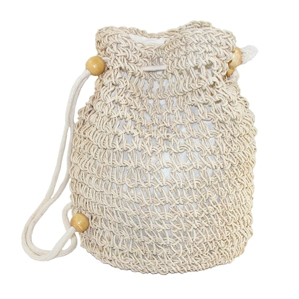 CTM® Women's Crochet Backpack Handbag - One size
