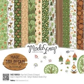 """Elizabeth Craft Modascrap Paper Pack 12""""X12"""" 12/Pkg-Magic Mountain"""
