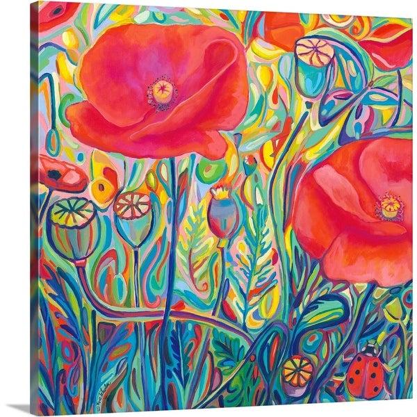 """Poppy Ambrosia"" Canvas Wall Art"