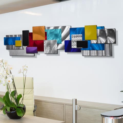 Statements2000 Large 3D Metal Wall Art Sculpture Modern Geometric Decor by Jon Allen - Impromto