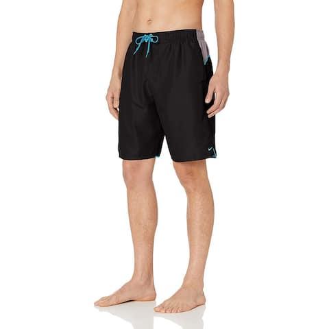 """Nike Swim Men's Color Surge 9"""" Volley Short Swim Trunk, Black, Medium"""