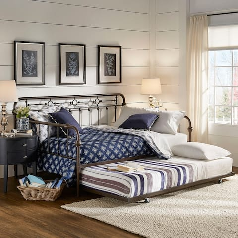 Darren Bronze Metal Full Size Daybed with Trundle by iNSPIRE Q Classic