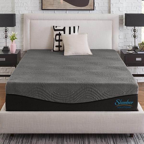 Slumber Solutions Active 14-inch Charcoal Memory Foam Mattress. Opens flyout.