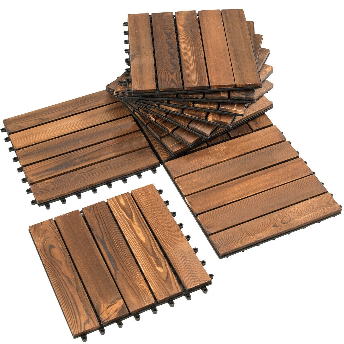 Interlocking Wood Deck Tiles Patio