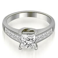 1.25 ct.tw 14K White Gold Channel Princess Cut Diamond Engagement Ring HI,SI1-2