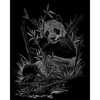 "Panda - Silver Foil Engraving Art Kit 8""X10"""