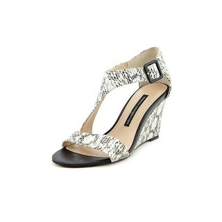 French Connection Unice Open Toe Leather Wedge Sandal