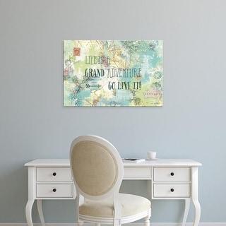Easy Art Prints Katie Pertiet's 'Map Sentiments I' Premium Canvas Art
