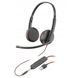 Plantronics C3225 USB Corded Headset - Black