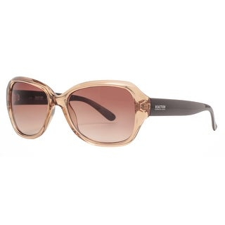 Kenneth Cole Reaction KC1297 45F Women's Champagne Brown Oversized Sunglasses - transparent champagne - 56mm-17mm-140mm