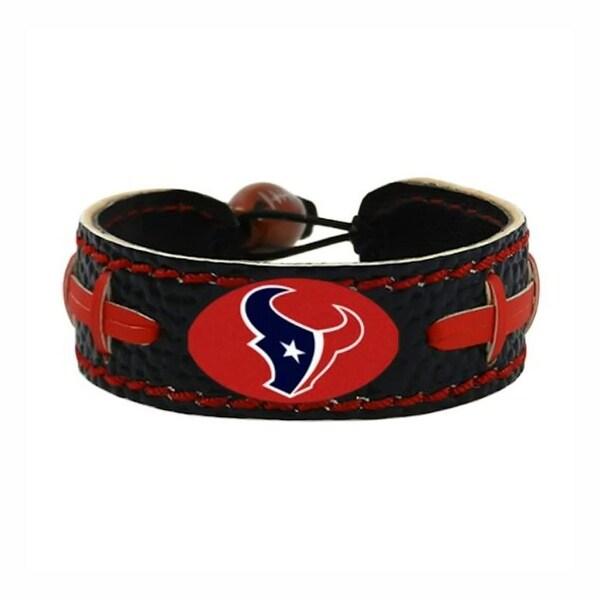 6df60188850bf Houston Texans Team Color NFL Gamewear Leather Football Bracelet