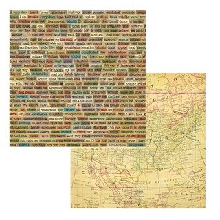 12 x 12 in. Across USA American Vintage 2 Sided Cardstock Paper
