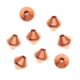 Real Copper Small Bicone Beads 3 x 3.2mm (50)
