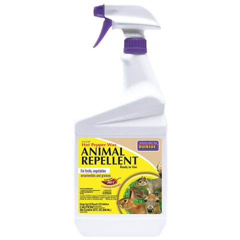 Bonide 127 Hot Pepper Wax Animal Repellent, Ready-to-Use, 1 Qt