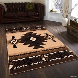 "Allstar Berber Woven High Quality High Density Double Shot Drop-Stitch Carving (5' 2"" x 7' 2"")"