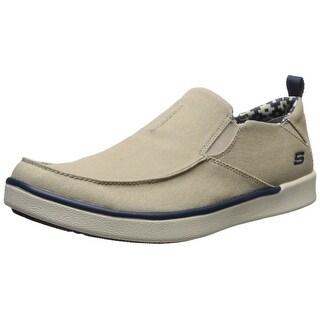 Skechers USA Men's Boyar Lented Slip-on Loafer, Tan, 8 M US
