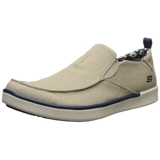 Skechers USA Men's Boyar Lented Slip-on Loafer, Tan, 8.5 M US