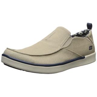 Skechers USA Men's Boyar Lented Slip-on Loafer, Tan, 9 M US