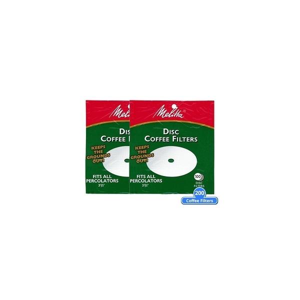 shop melitta 628354 disc percolator coffee filter 200 counts (2-pack ...