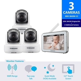 SEW-3043W-C2 - Samsung BrightVIEW Baby Video Monitoring System with 2 Additional Camera