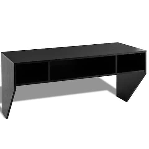 "Wall Mounted Floating Sturdy Computer Table with Storage Shelf - 42.5"" x 21"" x 20.5"" (L x W x H)"
