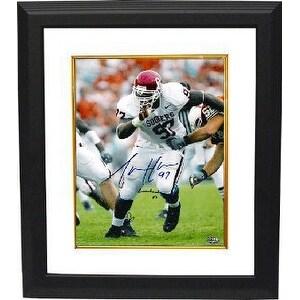 Tommie Harris signed Oklahoma Sooners Lombardi 03 8x10 Photo Custom Framed