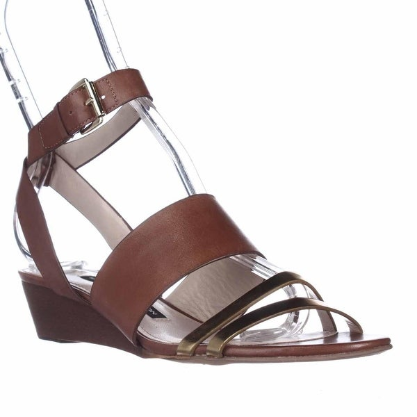 French Connection Wiley Ankle-Strap Sandals, Gold/Tan/Tan - 6 us / 36 eu