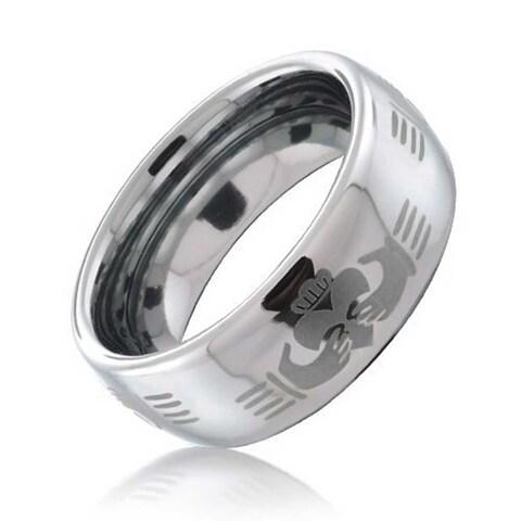 Claddagh Celtic Hand Design Tungsten Ring 8mm