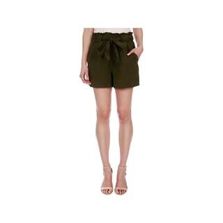 Lucky Brand Womens Casual Shorts Linen Woven