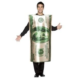$100 Bill Adult 100 Dollar Halloween Costume - standard - one size
