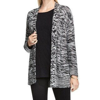 Two by Vince Camuto NEW Black Womens Size XS Marled Cardigan Sweater