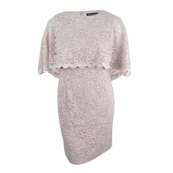 367bab708716 Shop Jessica Howard Women's Glitter Lace Capelet Dress - Free ...
