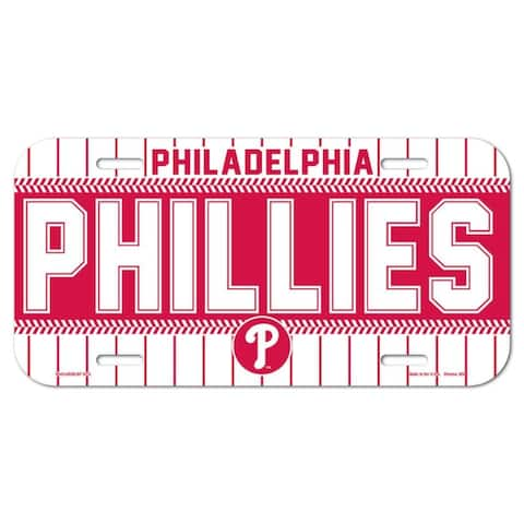 "Philadelphia Phillies License Plate - 6""x12"""