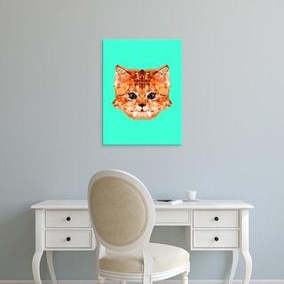 Easy Art Prints Andreas Lie's 'Geometric Kitten' Premium Canvas Art