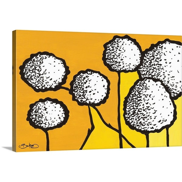 """Flowers in Unity - Yellow"" Canvas Wall Art"