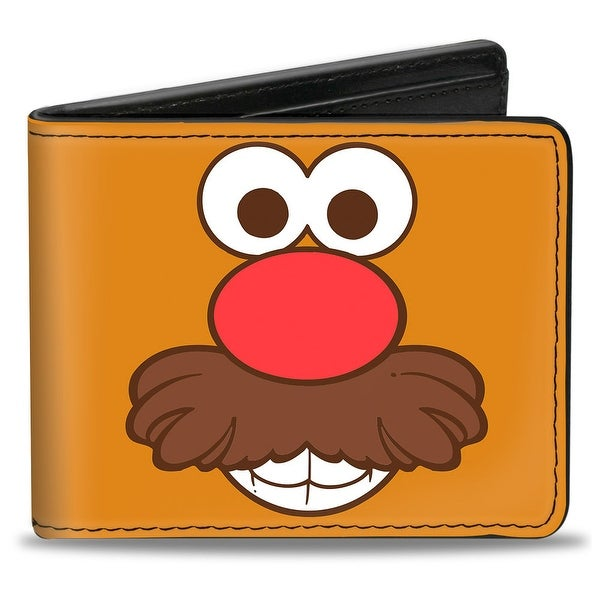 Mr. Potato Head Face Close Up + Logo Bi Fold Wallet - One Size Fits most