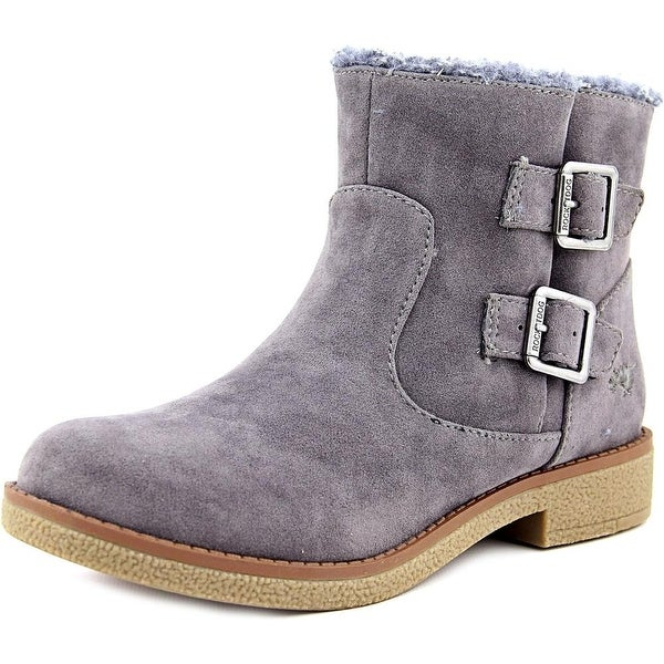 Rocket Dog Timmy Hush Women  Round Toe Suede Gray Boot