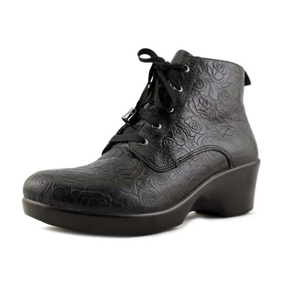 Alegria Eliza Women Round Toe Leather Black Ankle Boot