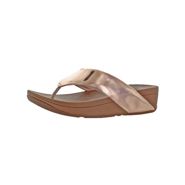 fdab3724d5465 Fitflop Womens Swoop Thong Sandals Metallic Slip Resistant - 6 Medium (B
