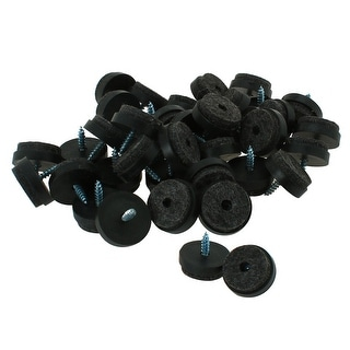 "Link to 40pcs Felt Pad Nails Glide Slider 1""Dia for Wooden Furniture Leg Feet - Black Similar Items in Power Tools"